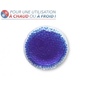Bouillotte à perles moyen modèle - Bleue