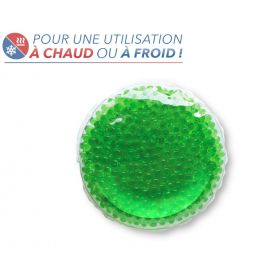 Bouillotte à perles moyen modèle - Verte