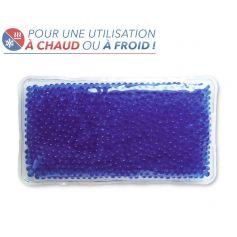 Bouillotte à perles grand modèle - Bleue