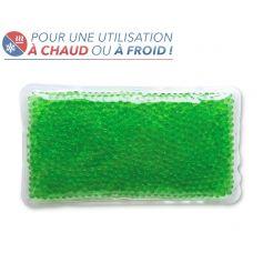 Bouillotte à perles grand modèle - Verte