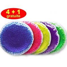 Lot de 5 bouillottes perles - Moyen modèle - 4+1 gratuite