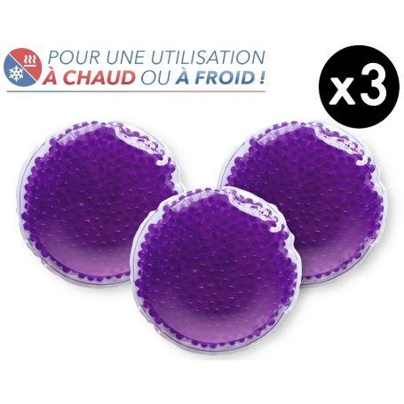 3 Bouillottes à perles MM - Violette