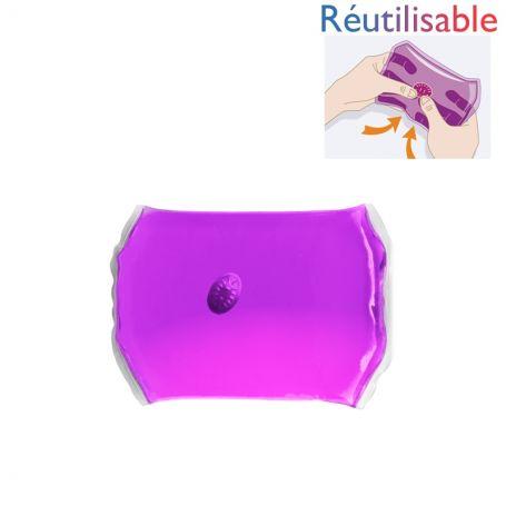 Bouillotte pastille réutilisable - moyenne violette
