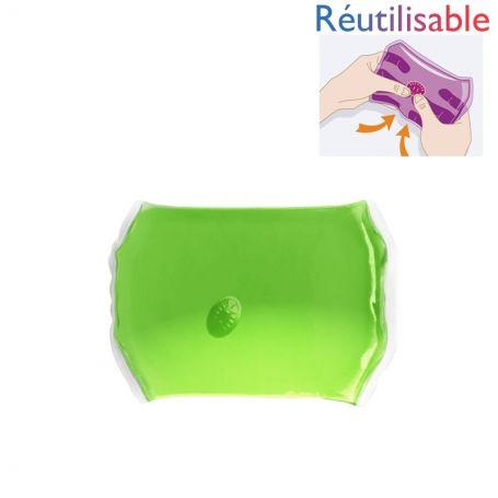 Bouillotte pastille réutilisable - moyenne verte