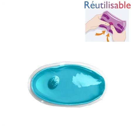 Bouillotte pastille réutilisable - petite bleue