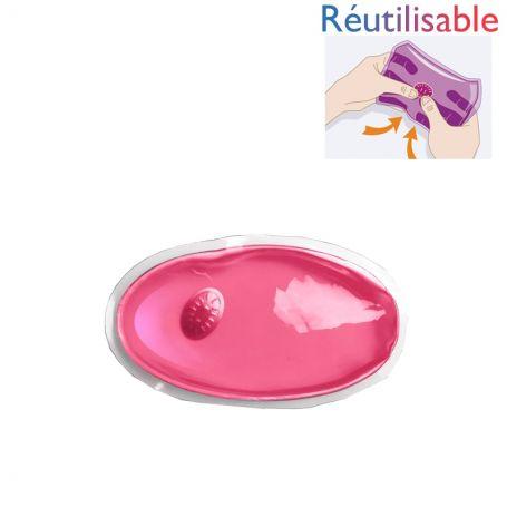 Bouillotte pastille réutilisable - petite rose