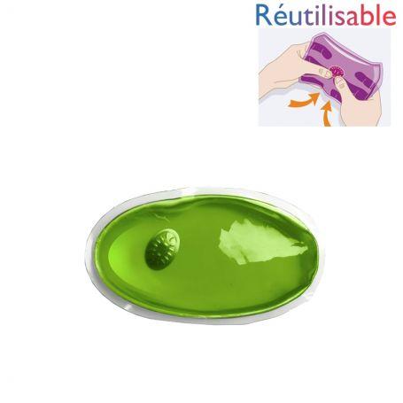 Bouillotte pastille réutilisable - petite verte