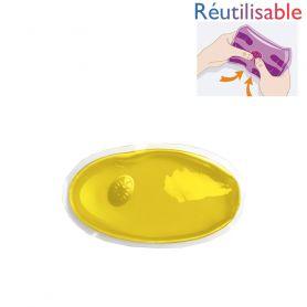 Bouillotte pastille réutilisable - petite jaune