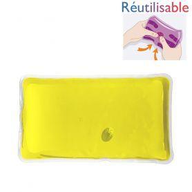 Bouillotte pastille réutilisable - grande jaune