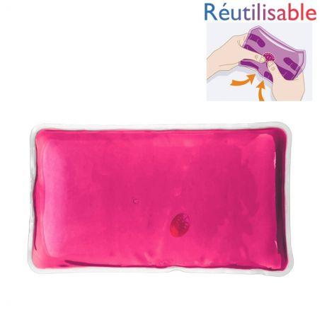 Bouillotte pastille réutilisable - grande rose
