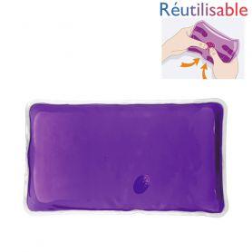 Bouillotte pastille réutilisable - grande violette