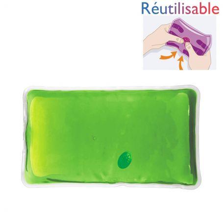 Bouillotte pastille réutilisable - grande verte