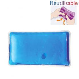 Bouillotte pastille réutilisable - grande bleue