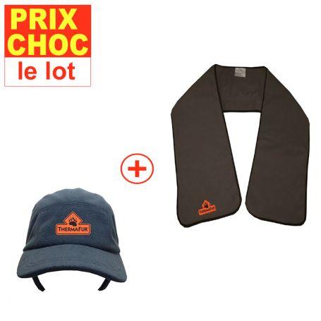 Promo casquette + écharpe réchauffantes - accessoires chauffants ef2e3d479fa