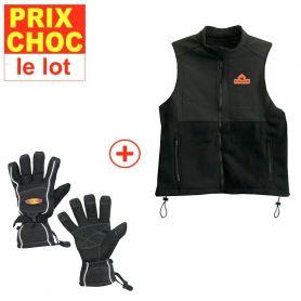 Veste + gants Sport chauffants
