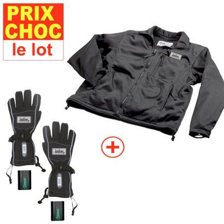 Veste + gants réchauffants à pile