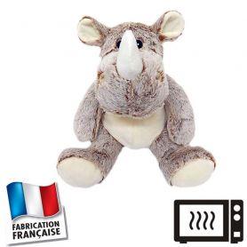 Peluche bouillotte Rhino