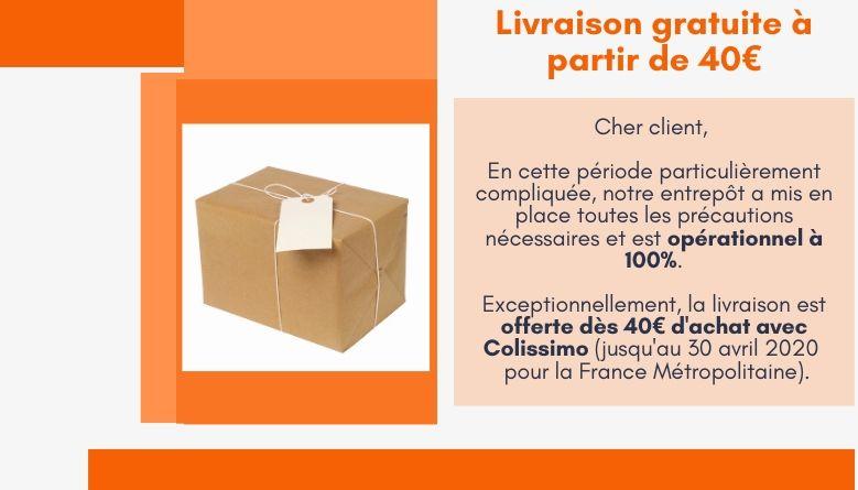 Livraison gratuite dès 40 euros